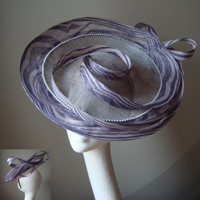 lysette saucer hat fascinator