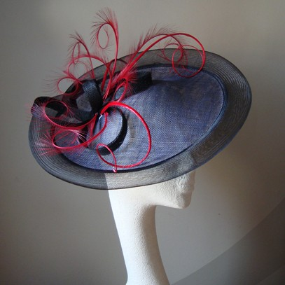 avril saucer hat fascinator