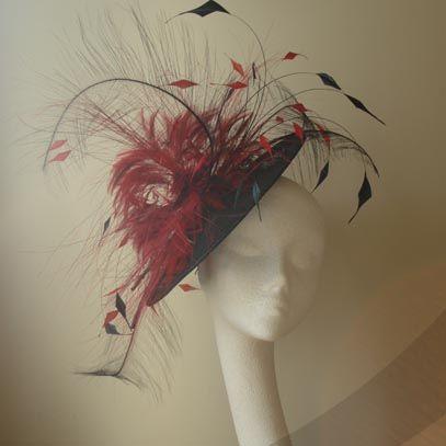 carla saucer hat fascinator