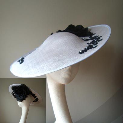lydia saucer hat fascinator