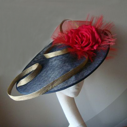 margot saucer hat fascinator