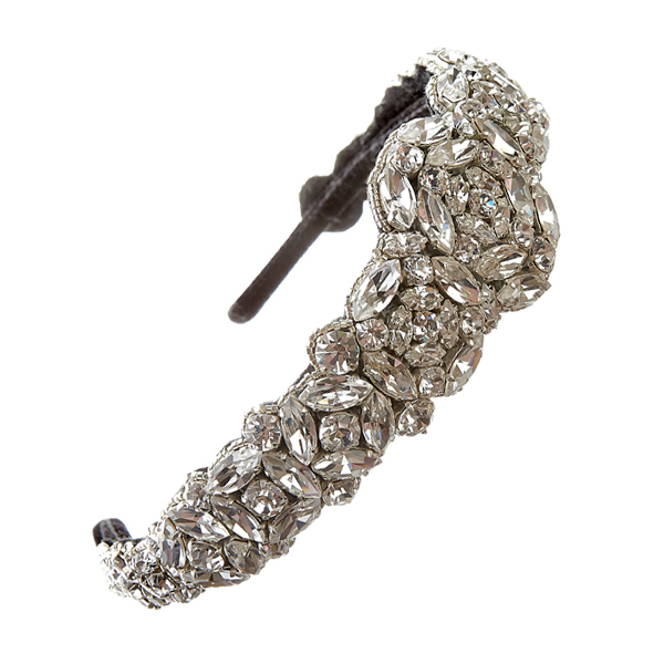 Statement bridal wedding headband diamante
