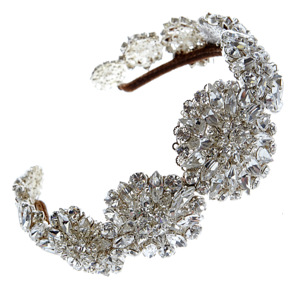 Statement bridal wedding headpiece diamante