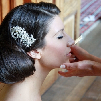 bridal wedding haircomb diamante real bride
