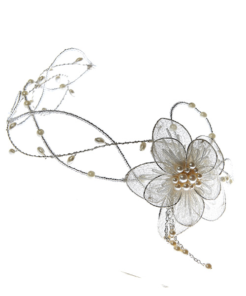 Petite Lorelle Boho Vintage forehead Circlet By Harriet Bespoke Bridal Hair Accessories.jpg