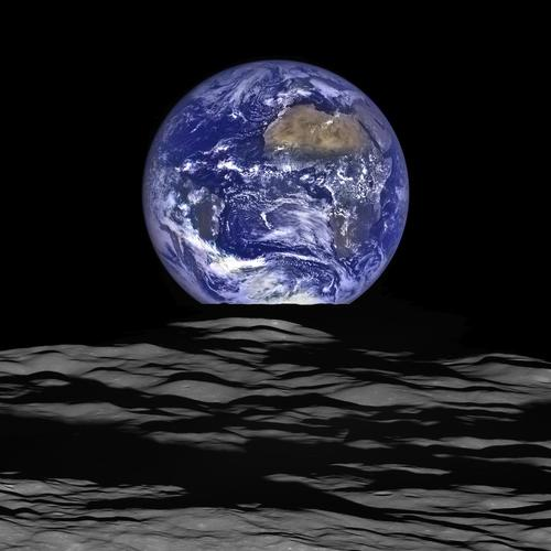 PHOTO: Earth 'rising' above our moon seen from Lunar Reconnaissance Orbiter - NASA