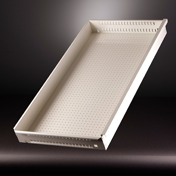 Product foto van bureaulade geproduceerd op een WEMO productielijn