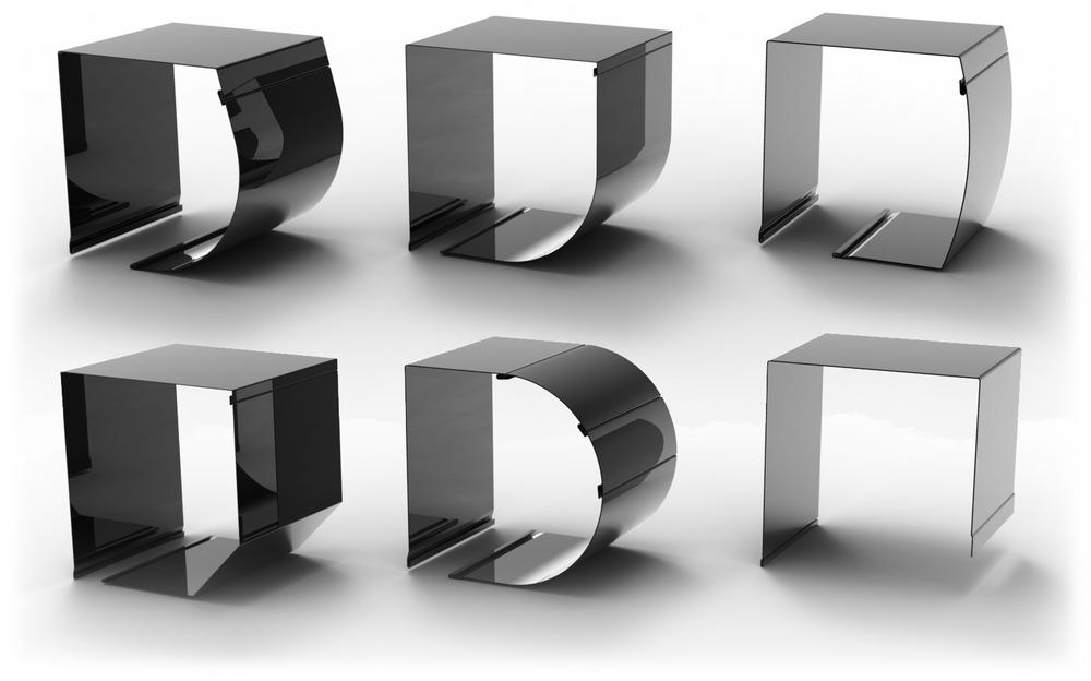 Produktfotos der Rollladenkasten mit einem WEMO biegemaschine hergestellt