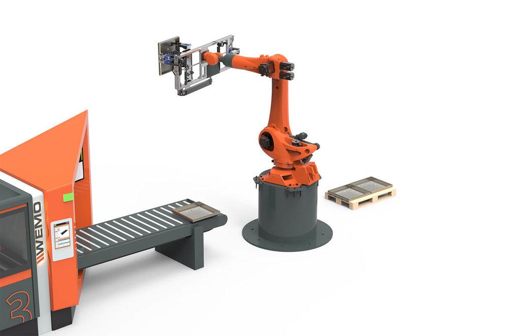WEMO Machines integratie van automatische handling Robot armen
