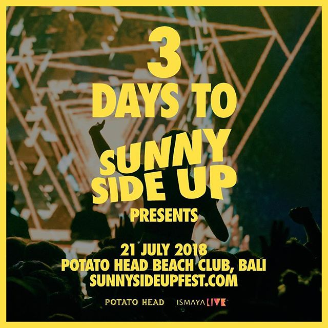 Three sleeps away until we see @nickmurphy on #SSU18 stage 🌴✨ Don't miss out! Few tickets left still available through link in bio 🤪 #ismayalive #potatoheadbali #sunnysideupfest