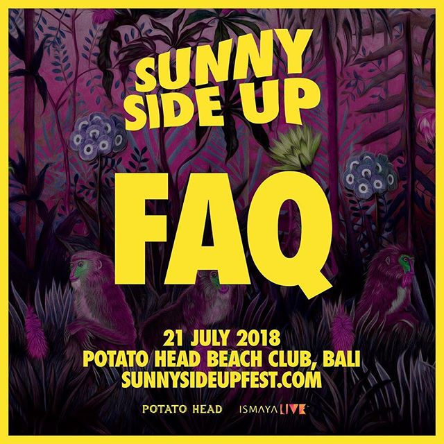 Sometimes life is confusing. Get your #SSU18 FAQs on our website: link in bio ⤴️ #sunnysideupfest #ismayalive #potatoheadbali #faq