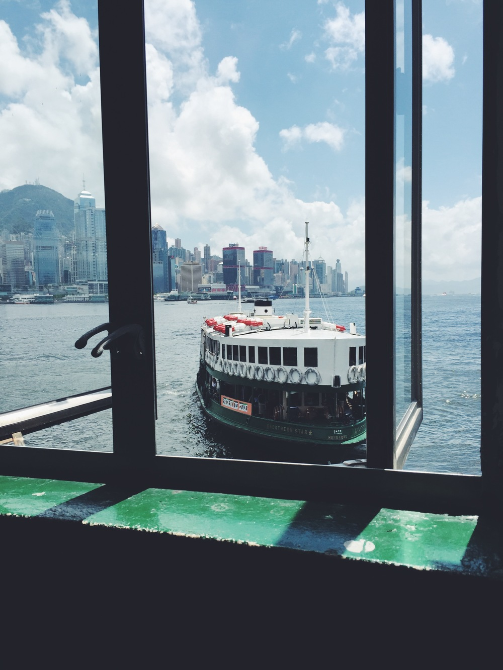Waiting to board the Star Ferry.