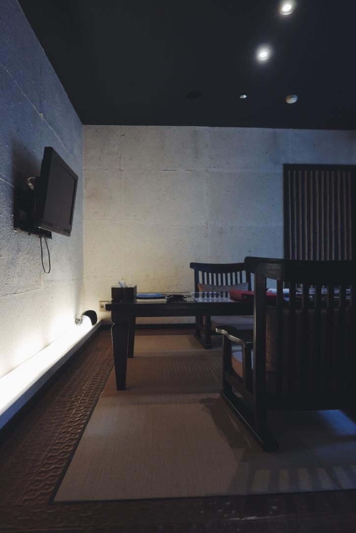 Tatami dining room.