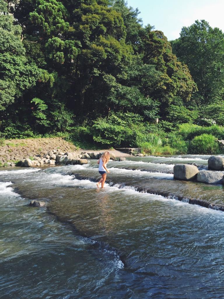 River frolicking.