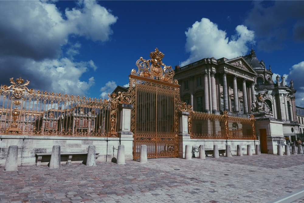 Versailles' golden gates.