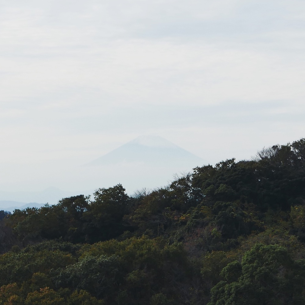 The elusive snow-capped Fuji-san.