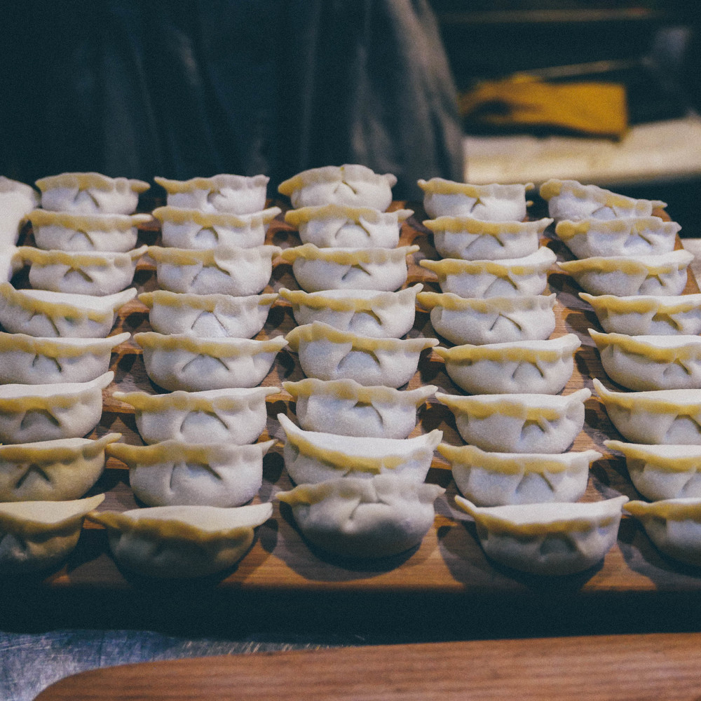 Our instructor's flawless dumplings.
