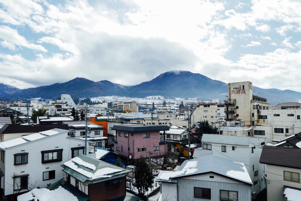 Yudanaka rooftops.