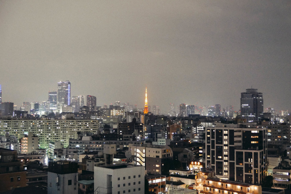 View of the Tokyo Tower from Hacienda del Cielo.