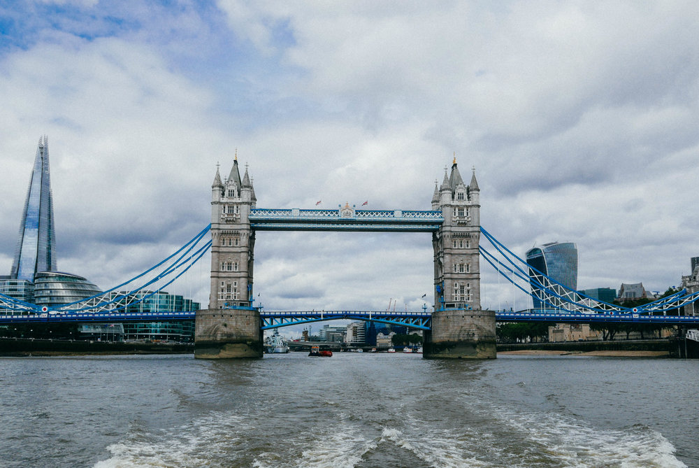 {The obligatory Tower Bridge photo - I love the juxtaposition of old and new here}