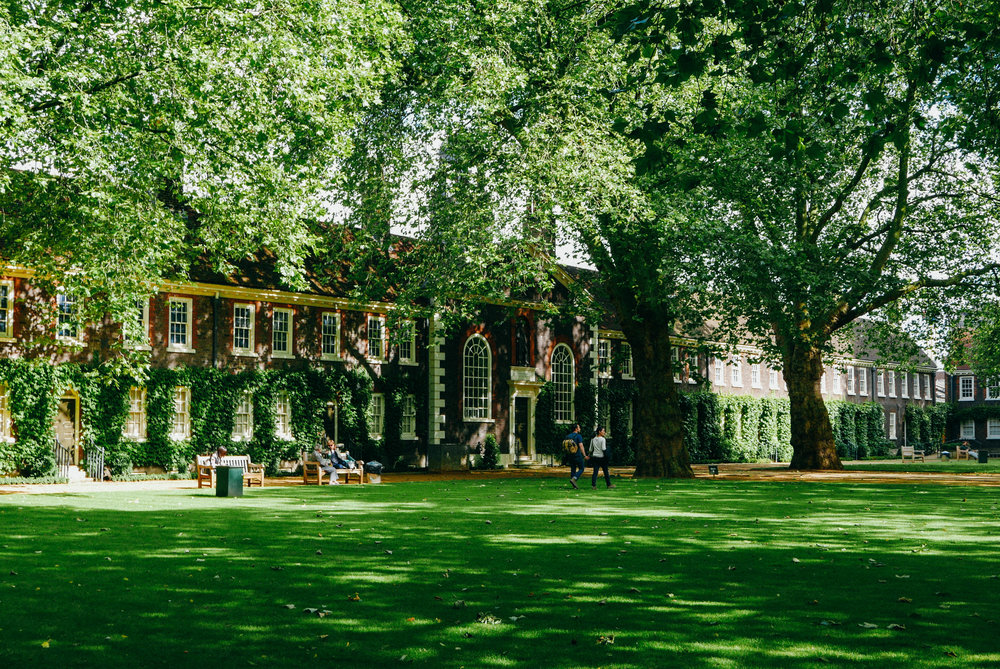 {Above: the front lawn at the Geffrye Museum | Below: the museum's period gardens}