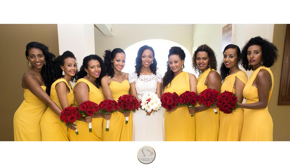foto sposa con damigelle lucca