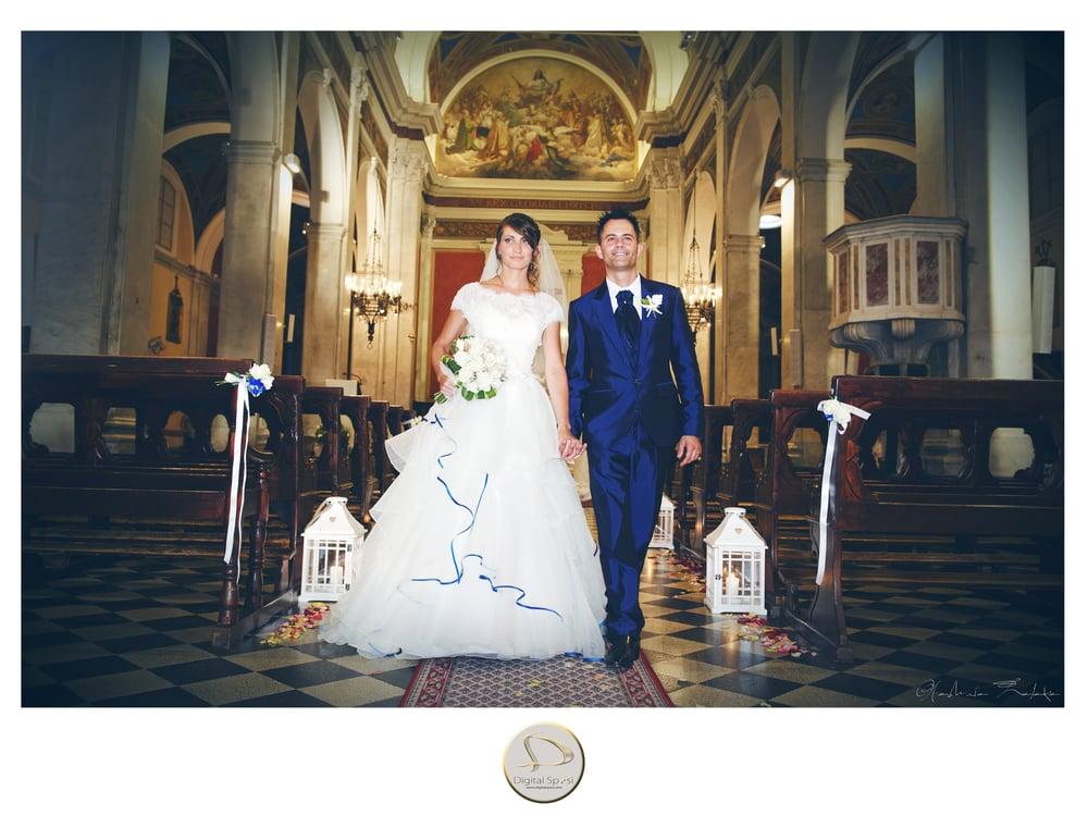 foto sposi in chiesa porcari