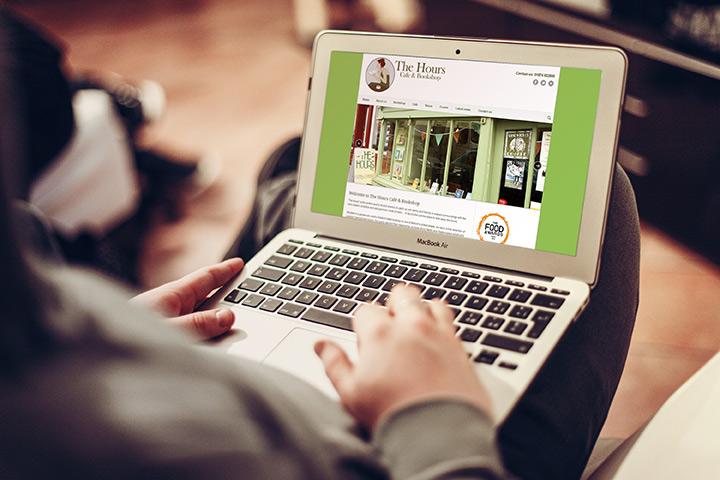 The Hours Café and Bookshop website design by Spark Sites