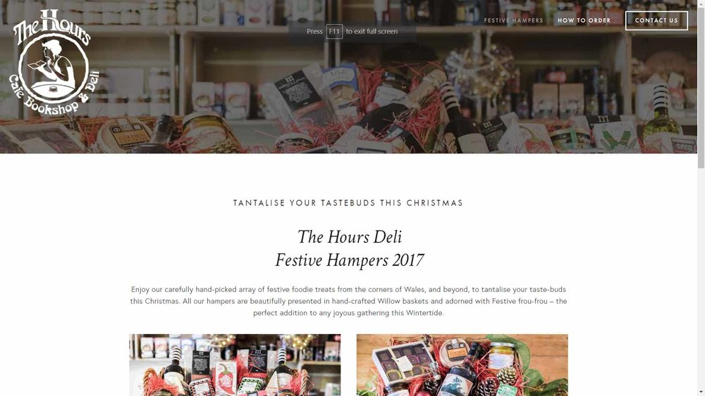 The Hours Deli Festive Hampers
