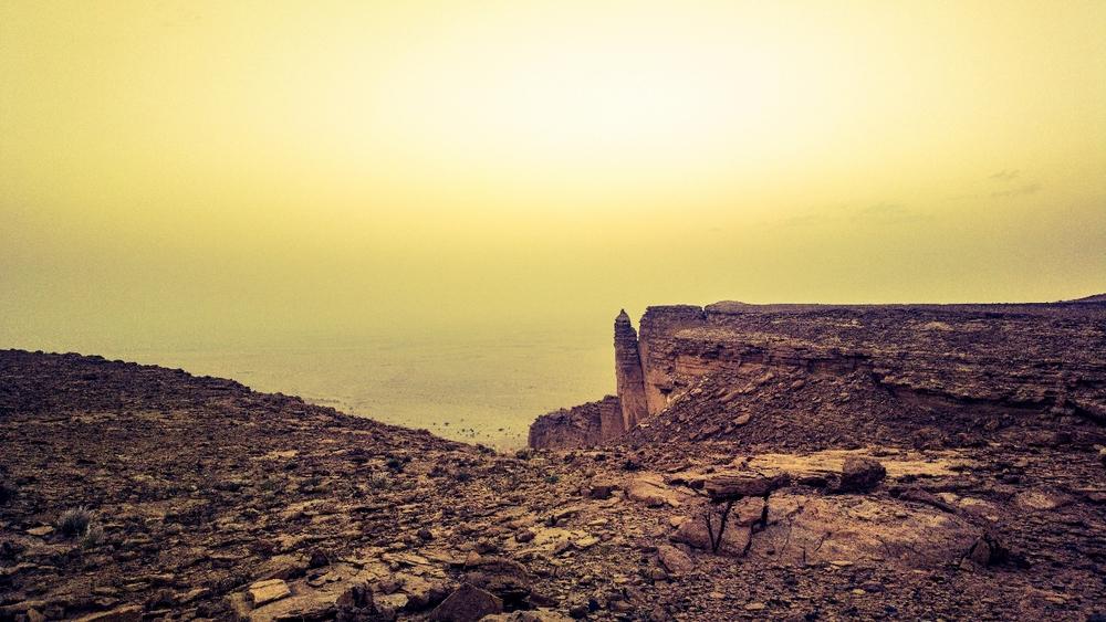Faisal's finger camping site, riyadh, saudi arabia.