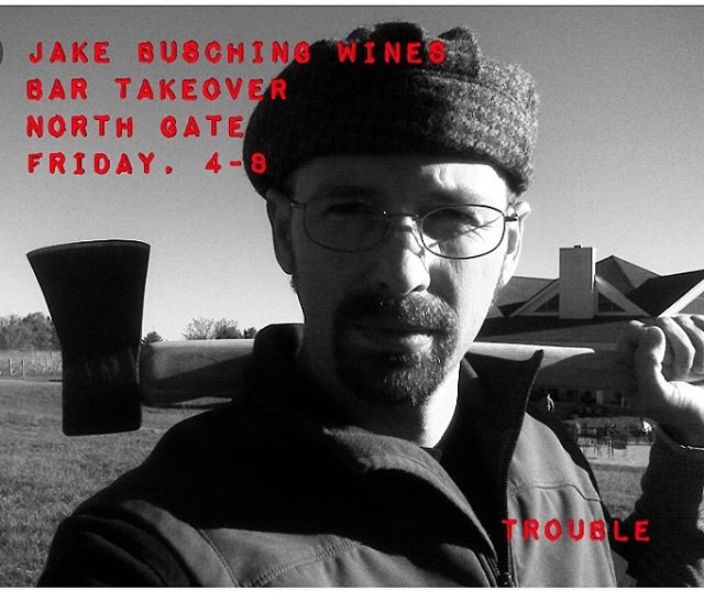 This Friday at @northgatewines!  Join the man behind the hat behind the axe behind the wines!