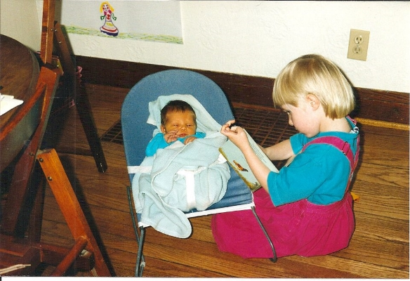 My baby sister, Sophie, was just days old when I subjected her to my stories.