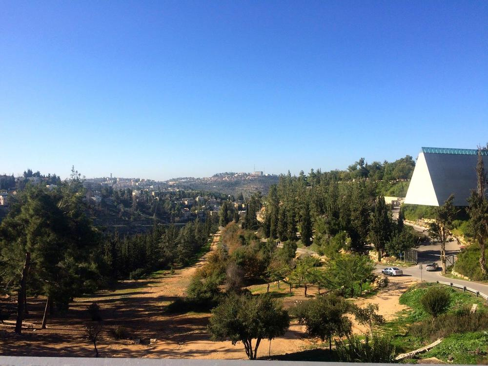 The view from outside Yad Vashem. Photos were prohibited inside the museum.