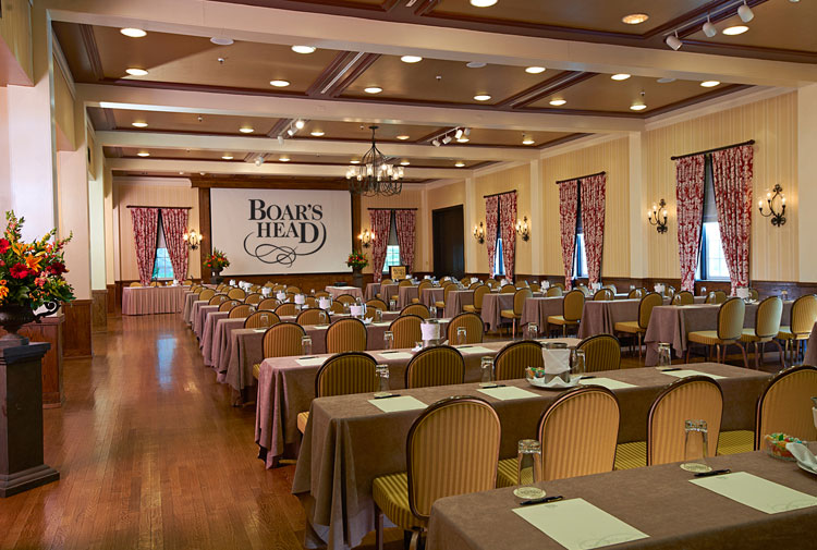 On-Site Audio Visual Services . Conference Room . Boar's Head Inn