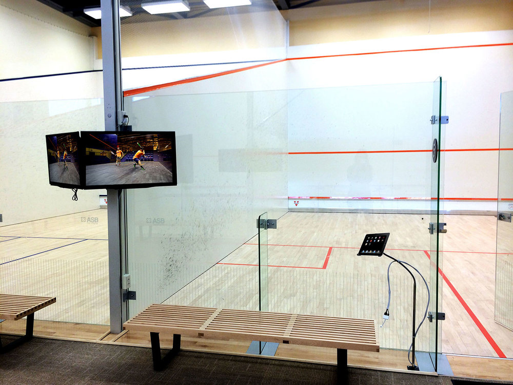 Audio Visual System Design and Installation . Squash Center . Screens