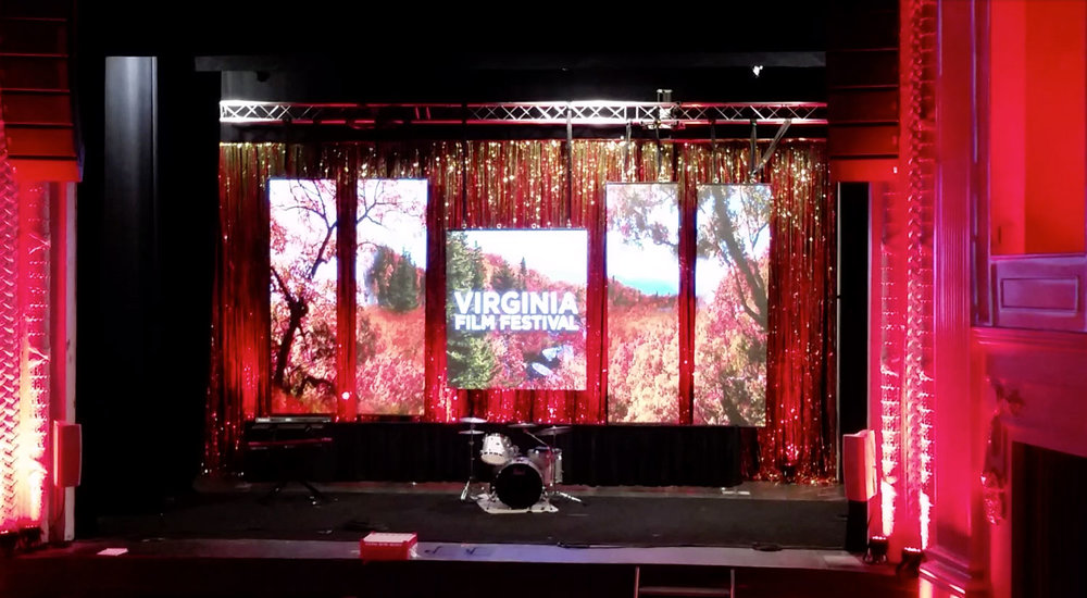 LED Video Screen Panels for Virginia Film Festival