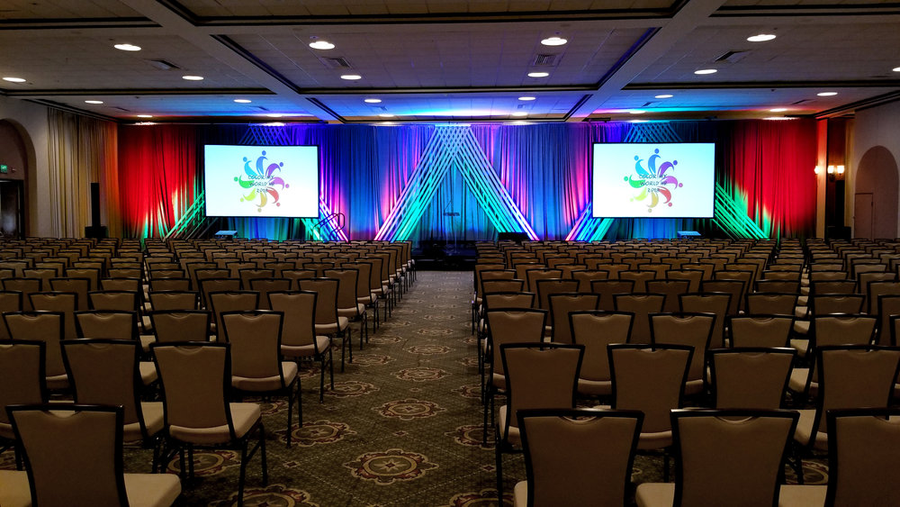 VASHRM conference at the Omni with custom staging and projection