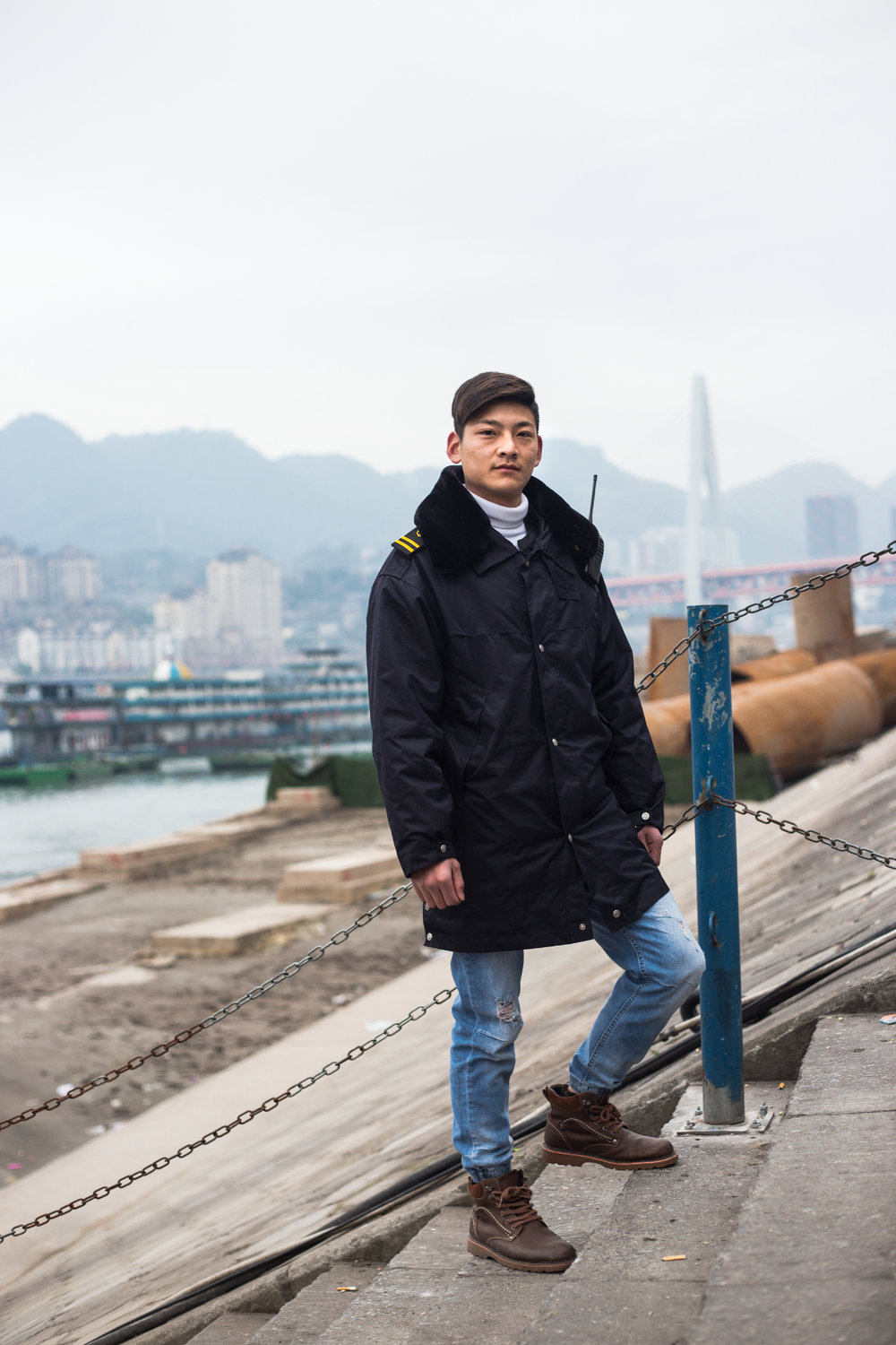 """There's a lot of of opportunity here. I've been here for six months, selling tickets for the tourists who want to go upriver.""  Song Yuen, Chongqing February 2017"