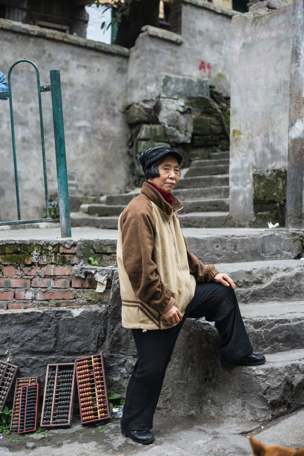 """The government moved us on a few years ago and relocated us about fifteen minutes walk away. We're lucky it's so close. This was home but life is better where we are.""  Jiao Shi, Chongqing February 2017"