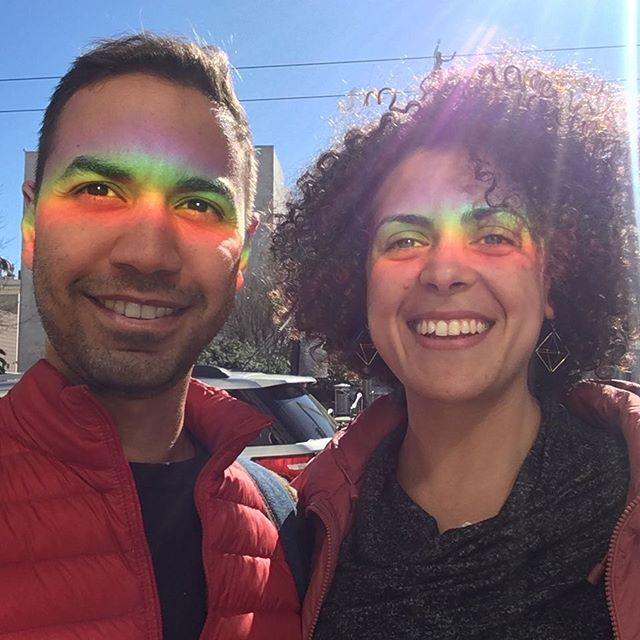 Enjoying the east coast sun with @aboelnis  #sanfrancisco #sanfran #rainbow #rainbow🌈  #nofilter #wifey #wifestyle