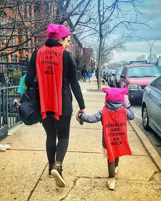 This story right here is better than most @disney princesses' #womensmarch #womenempowerment #strongasheck #cape #capes #pussyhat #pinkhat #motherhood
