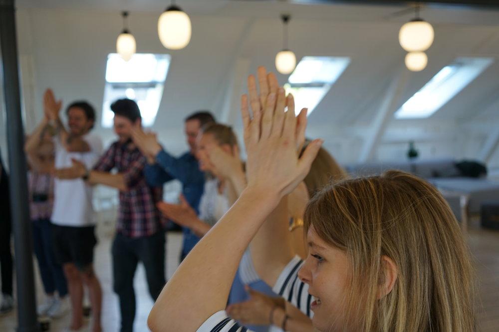 unge ledere i workshop