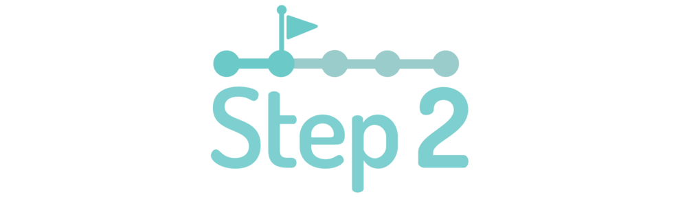 graphic symbolizing step two