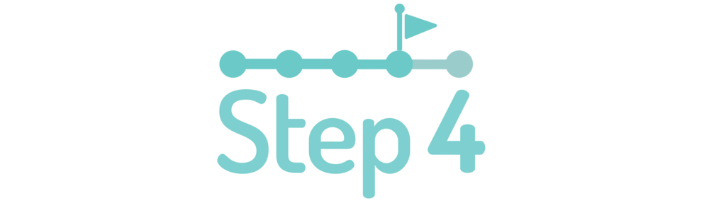 graphic symbolizing step four