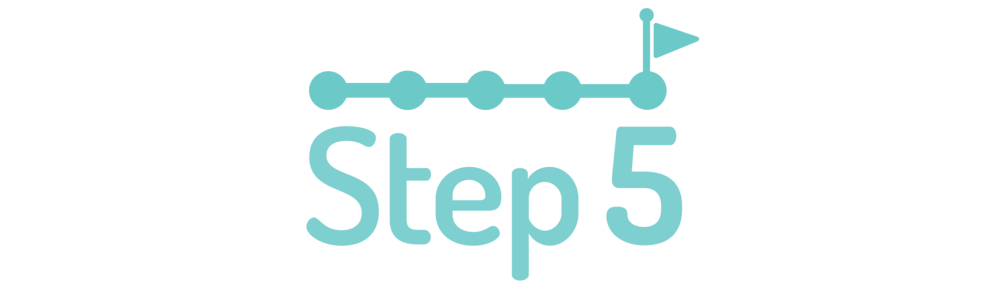 graphic symbolizing step five