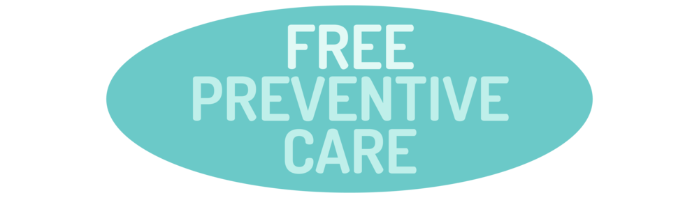 "graphic of text that says ""Free Preventive Care"""