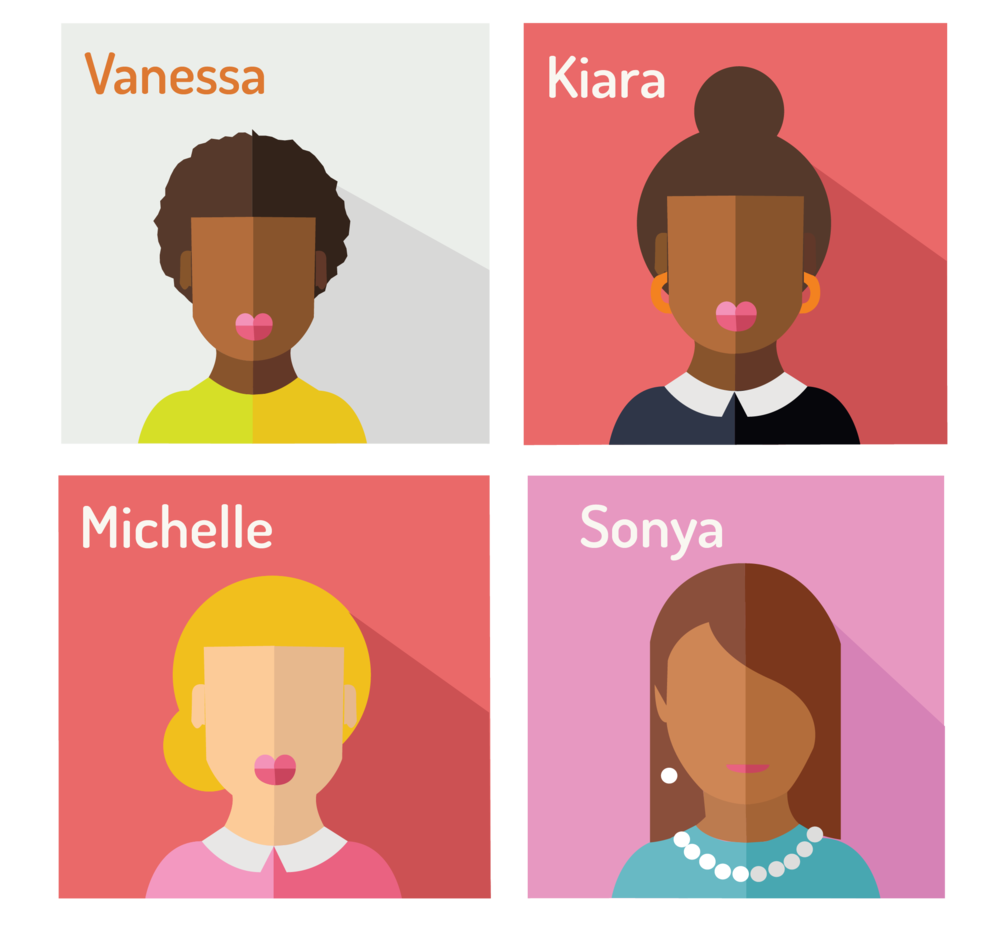 graphic of four ethnically diverse women