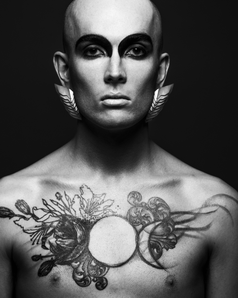 Photograph: Chris Bulezuik  Model: Lucas Beachy  Makeup: Simone Graham