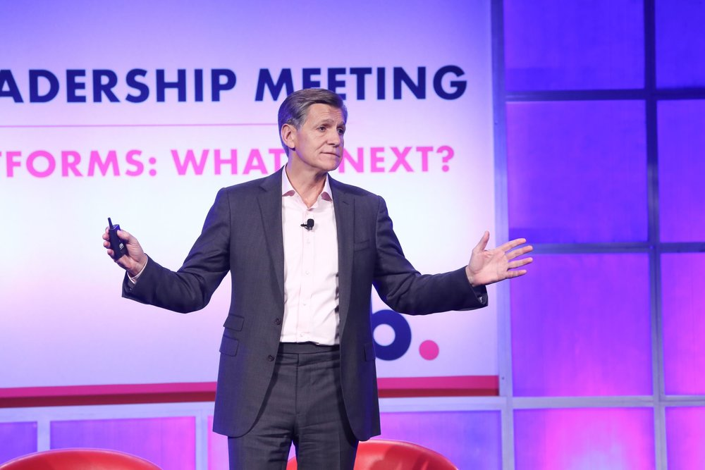 Marc Pritchard, Chief Brand Officer of P&G on stage at IAB Leadership Summit