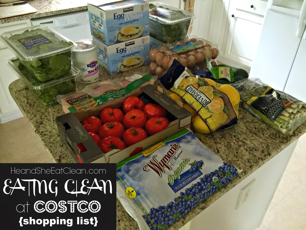 Eating Clean at Costco - Shopping List | He and She Eat Clean